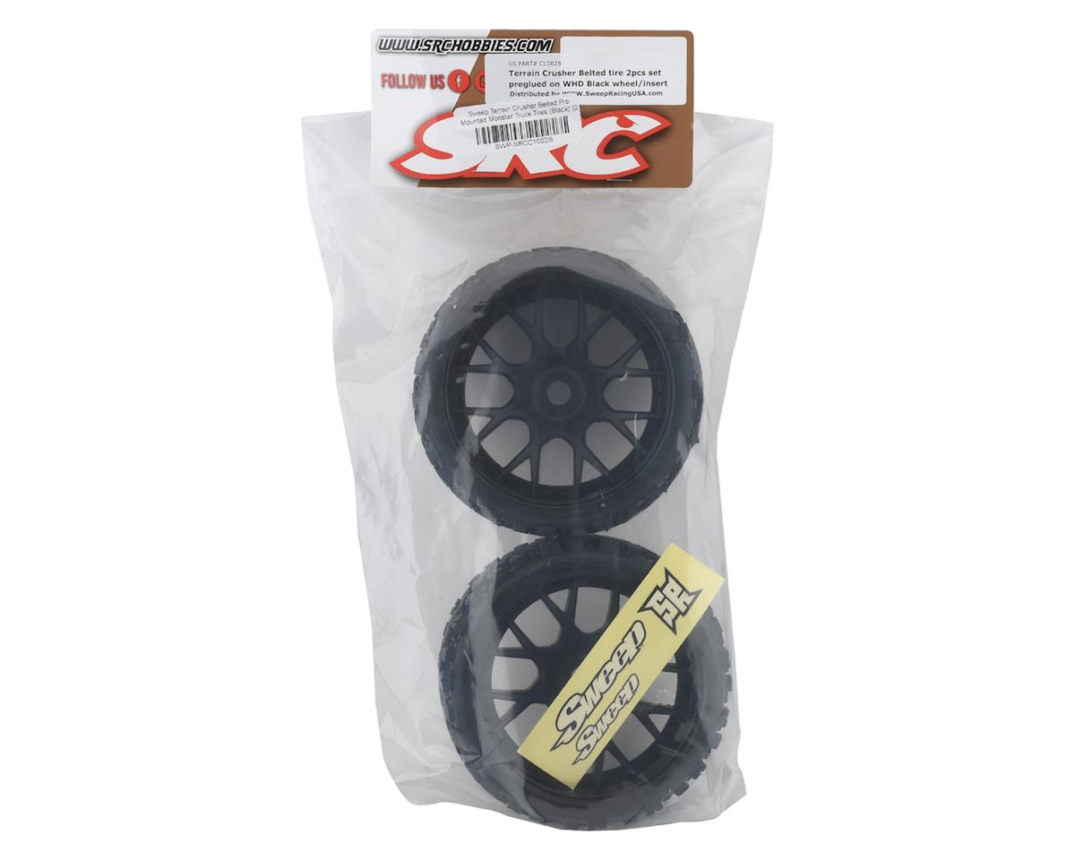 Image 3 for Sweep Terrain Crusher Belted Pre-Mounted Monster Truck Tires (Black) (2)