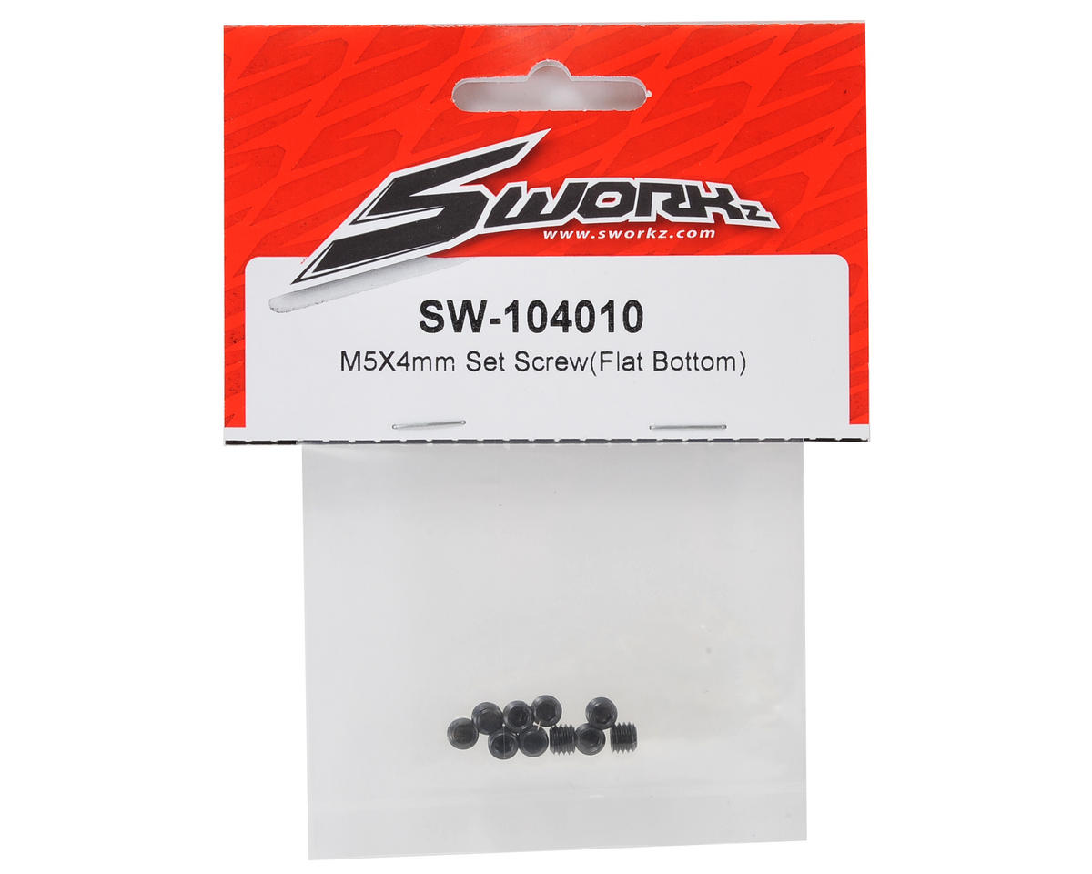 SWorkz 5x4mm Set Screw (10) (Flat Bottom)