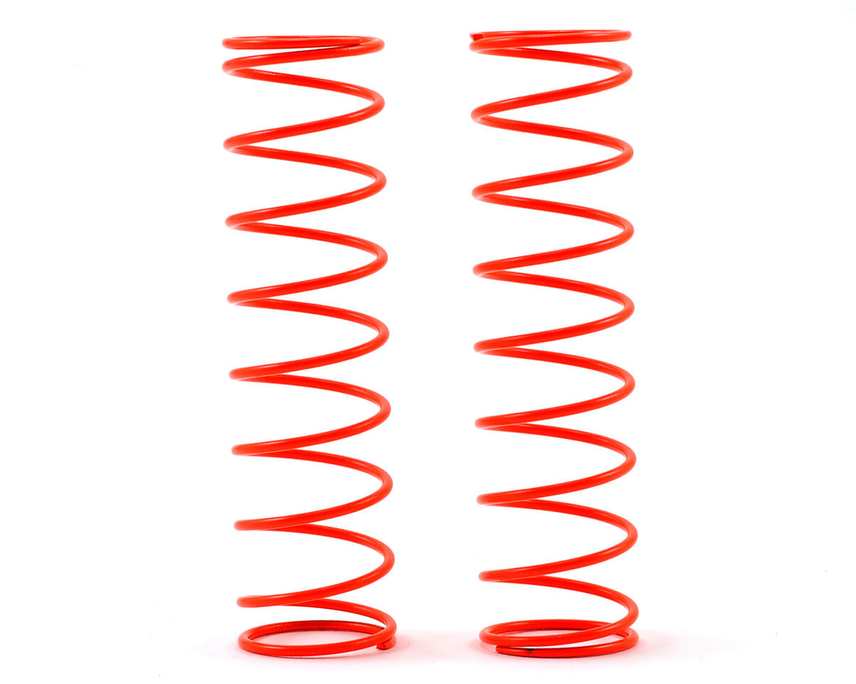 S104 Rear Shock Spring (Orange - Super Soft) (2) (L64mm/1.0mmxP8) by SWorkz