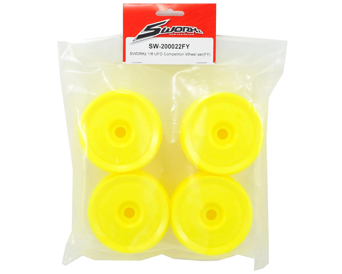 SWorkz 1/8 UFO Wheel Set (4) (Yellow)