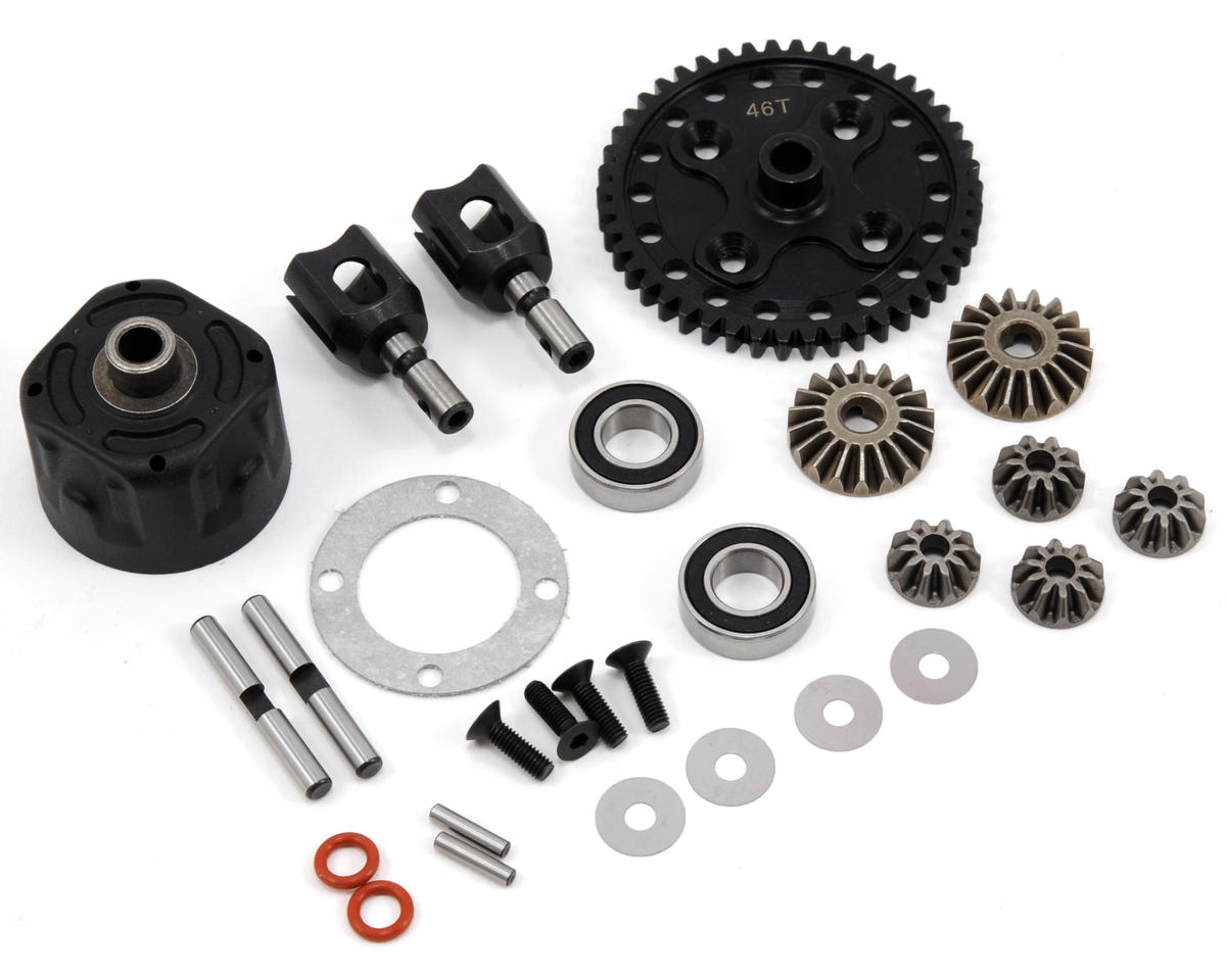 SWorkz EVO Series Center Differential Set (46T) (S-Workz Racing S350 BX1)