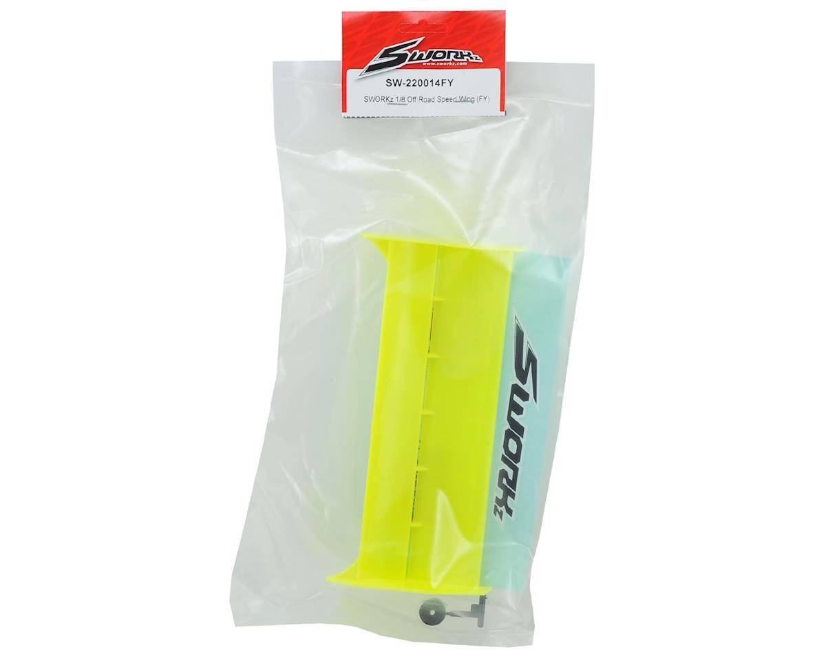 SWorkz Plastic 1/8 Off-Road Speed Wing (Yellow)