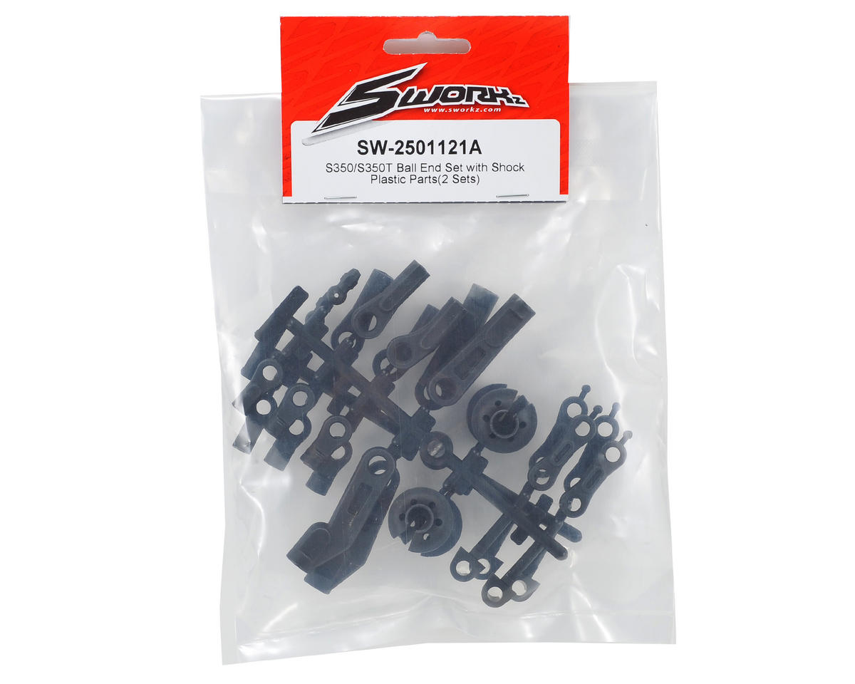 SWorkz S350/S350T Ball End Set & Shock Plastic Parts Set