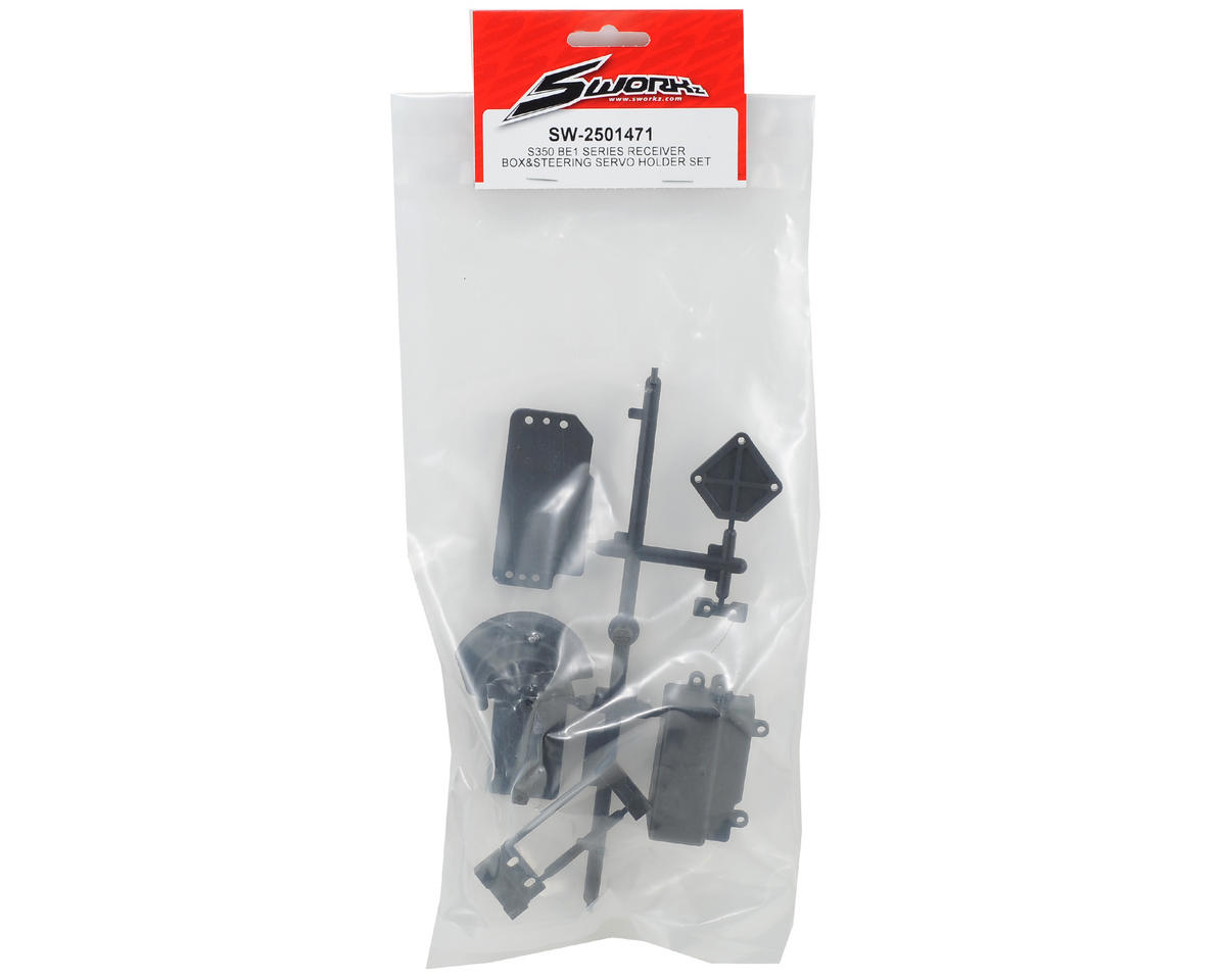 SWorkz S350 BE1 Receiver Box & Steering Servo Holder Set