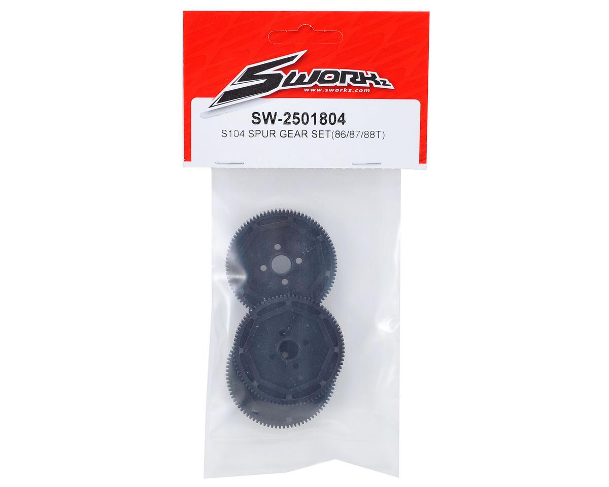 SWorkz S104 Spur Gear Set (86/87/88T)