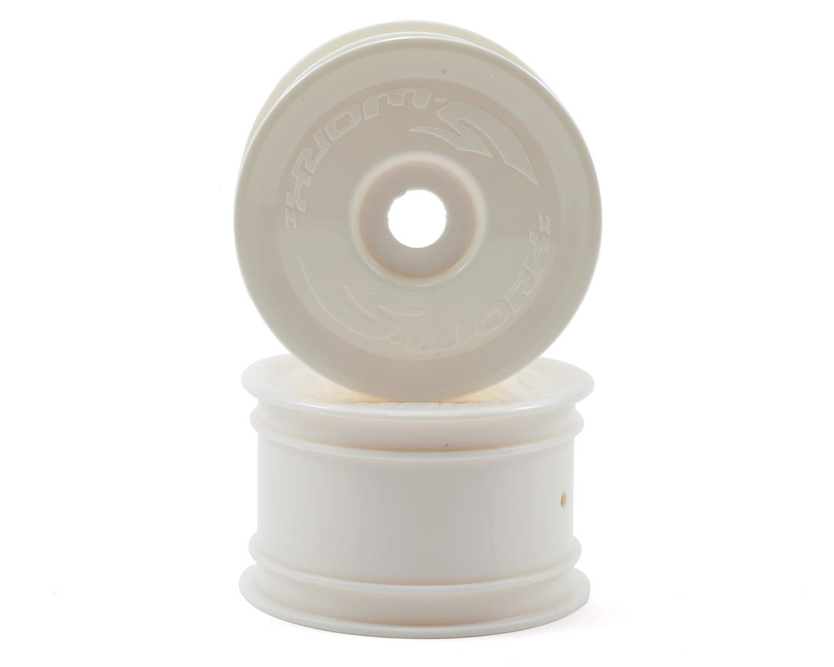14mm Hex Rear Buggy Wheels (2) (White) (S12-1/S104) by SWorkz