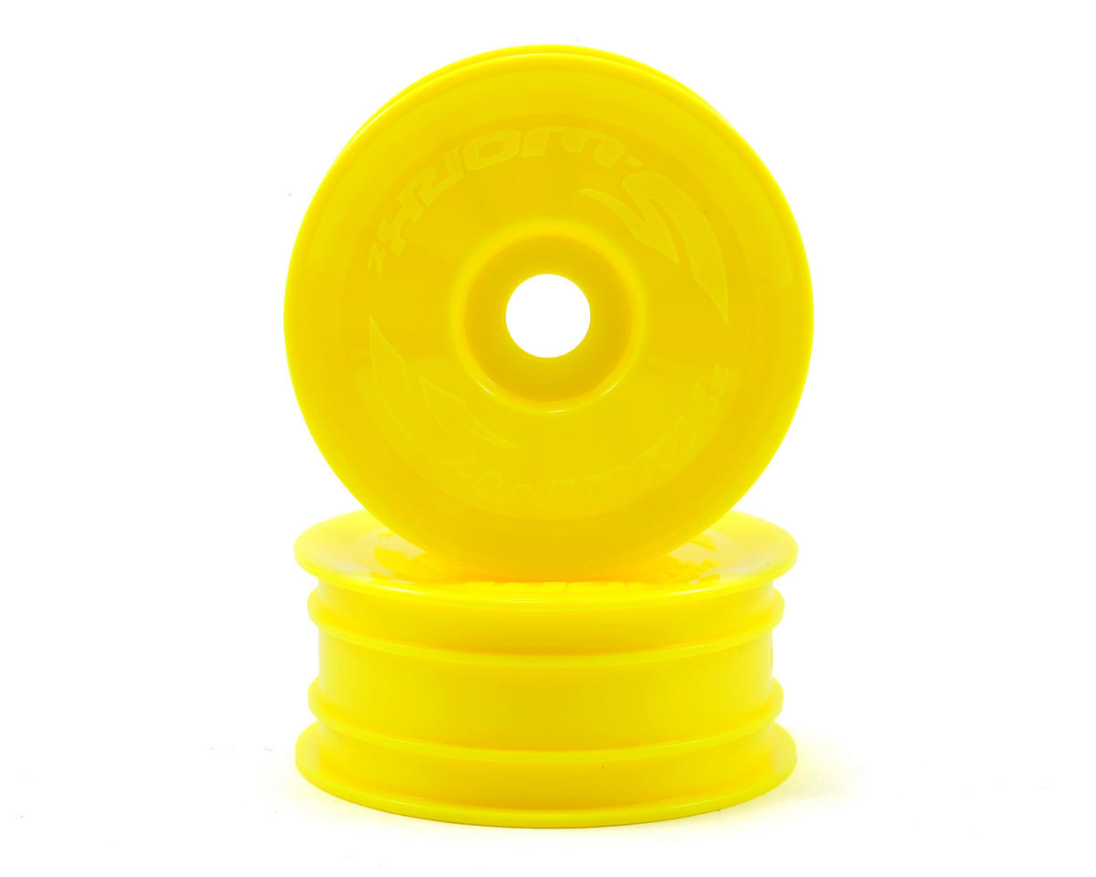 SWorkz 14mm Hex 4WD Front Buggy Wheels (2) (Yellow) (S-Workz Racing S104)