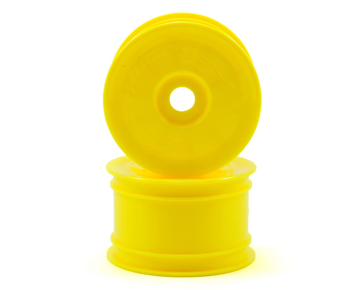 SWorkz 14mm Hex Rear Buggy Wheels (2) (Yellow) (S12-1/S-Workz S104)