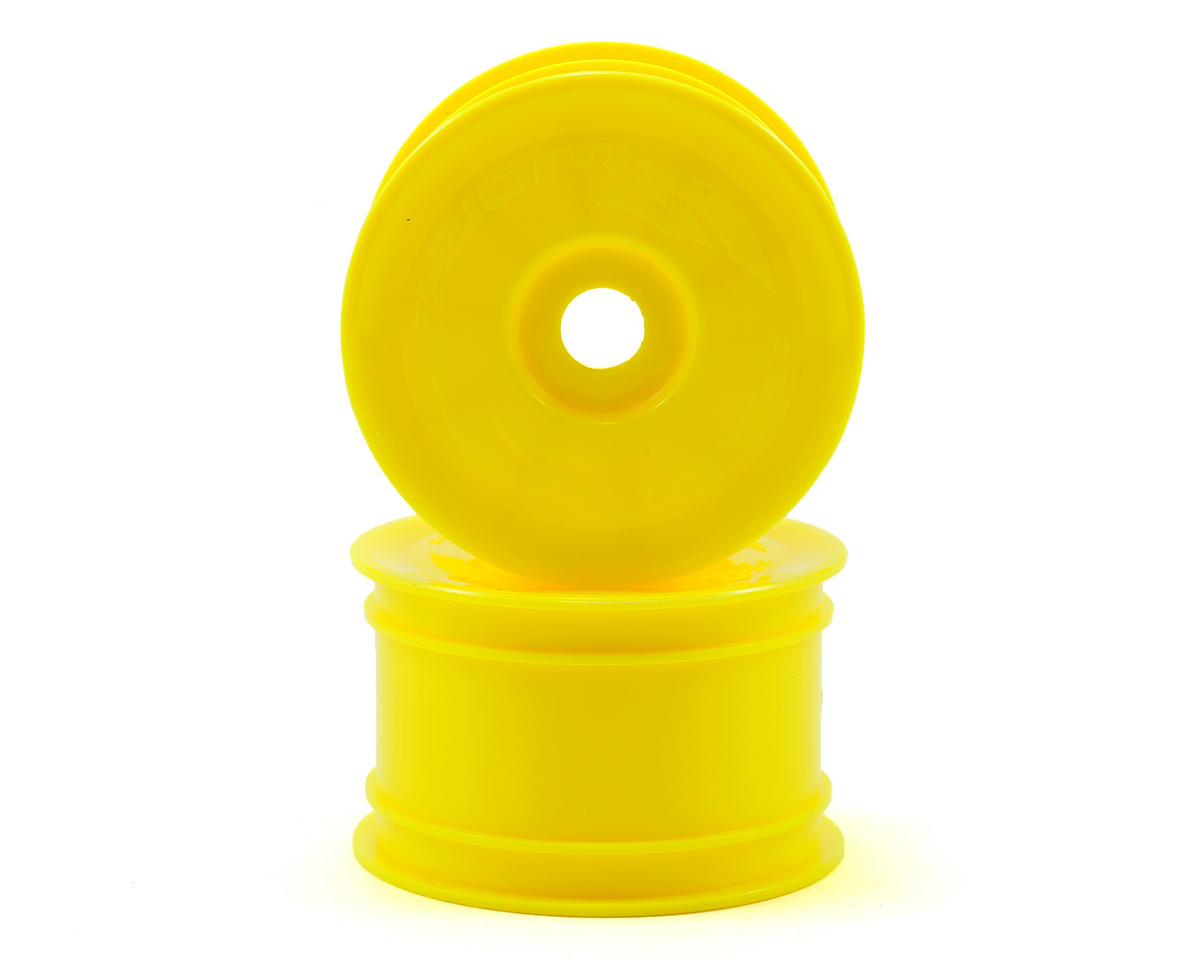 SWorkz 14mm Hex Rear Buggy Wheels (2) (Yellow) (S12-1/S-Workz Racing S104)