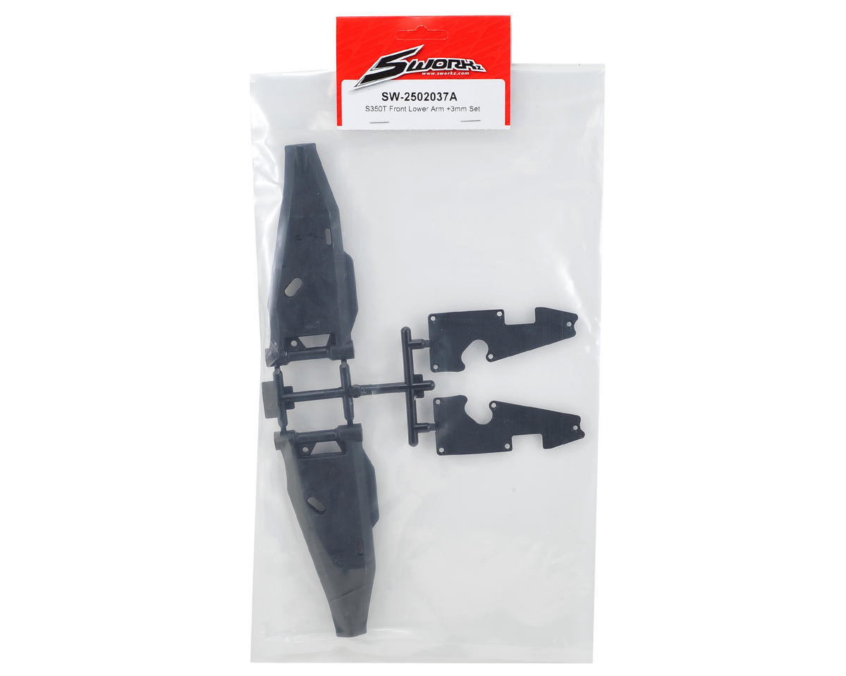 SWorkz S350T +3mm Front Lower Arm Set