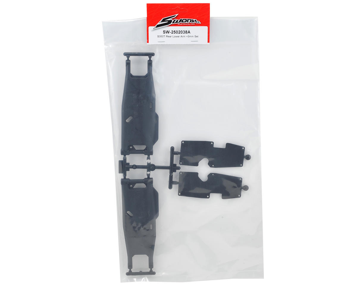 SWorkz S350T +3mm Rear Lower Arm Set