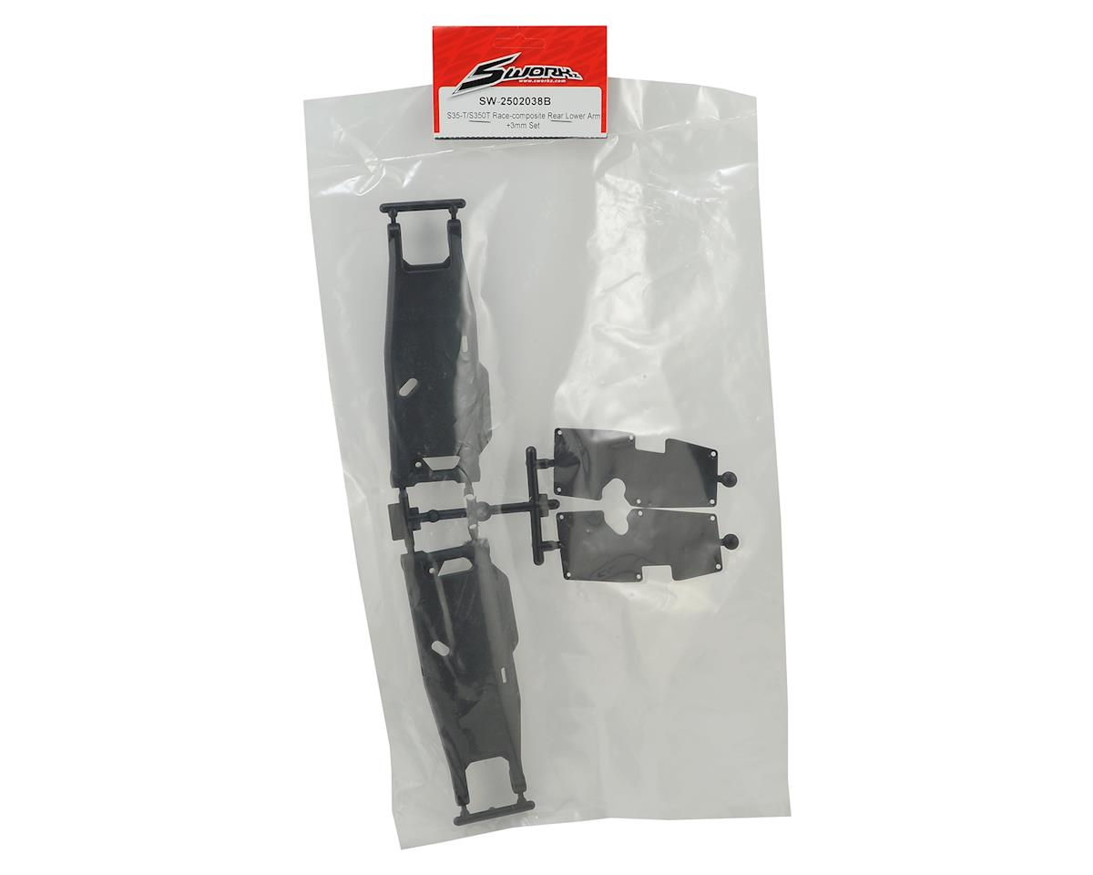 SWorkz S35-T/S350T Race-Composite Rear Lower Arm Set (+3mm)