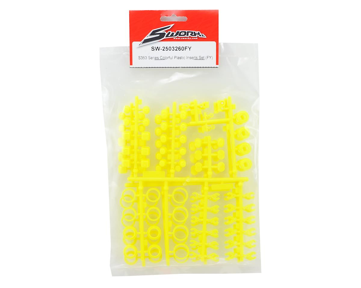 SWorkz S35-3 Series Colorful Plastic Inserts Set (Yellow) (2 Sets)
