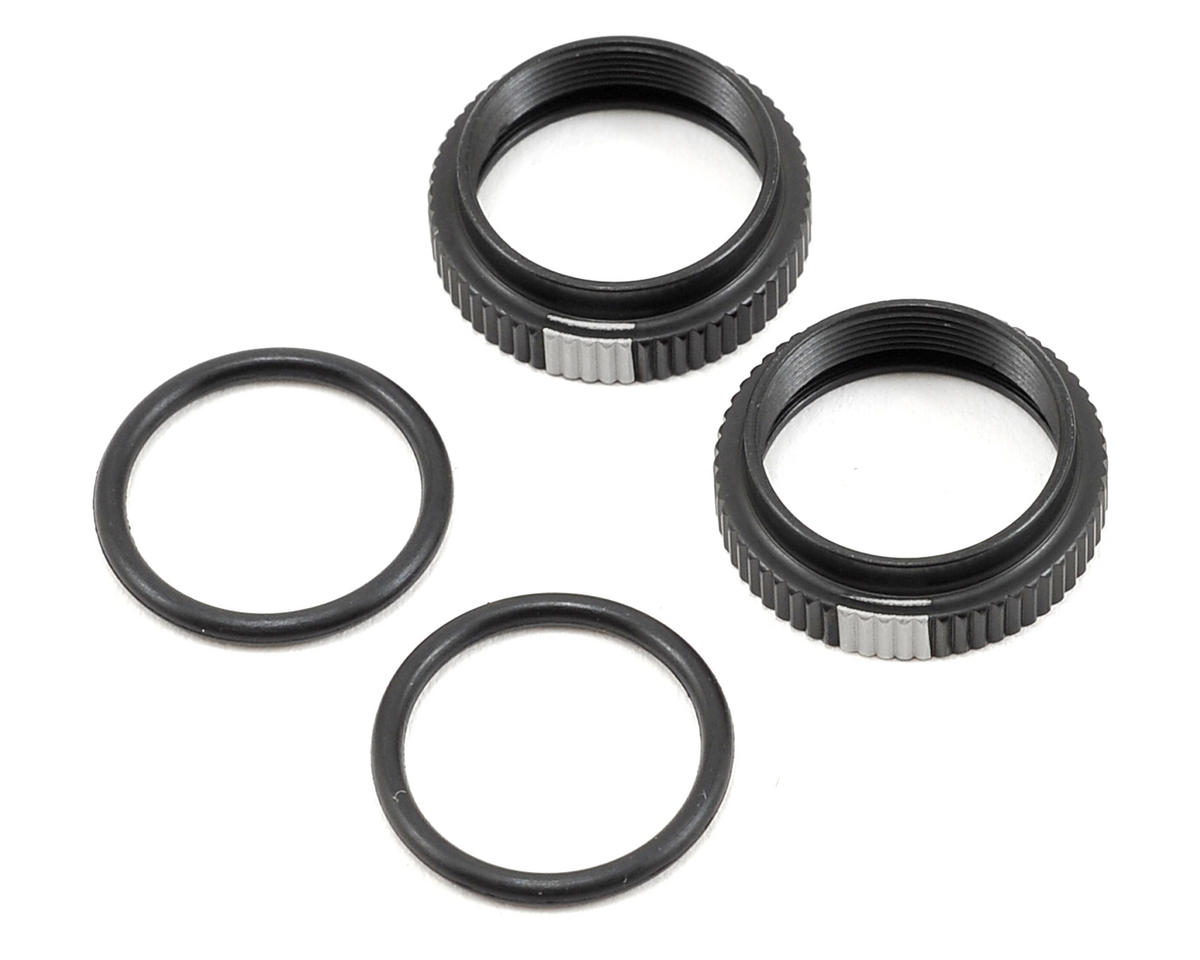 SWorkz S104 Aluminum Shock Spring Pre-Load Nut (Black) (2)