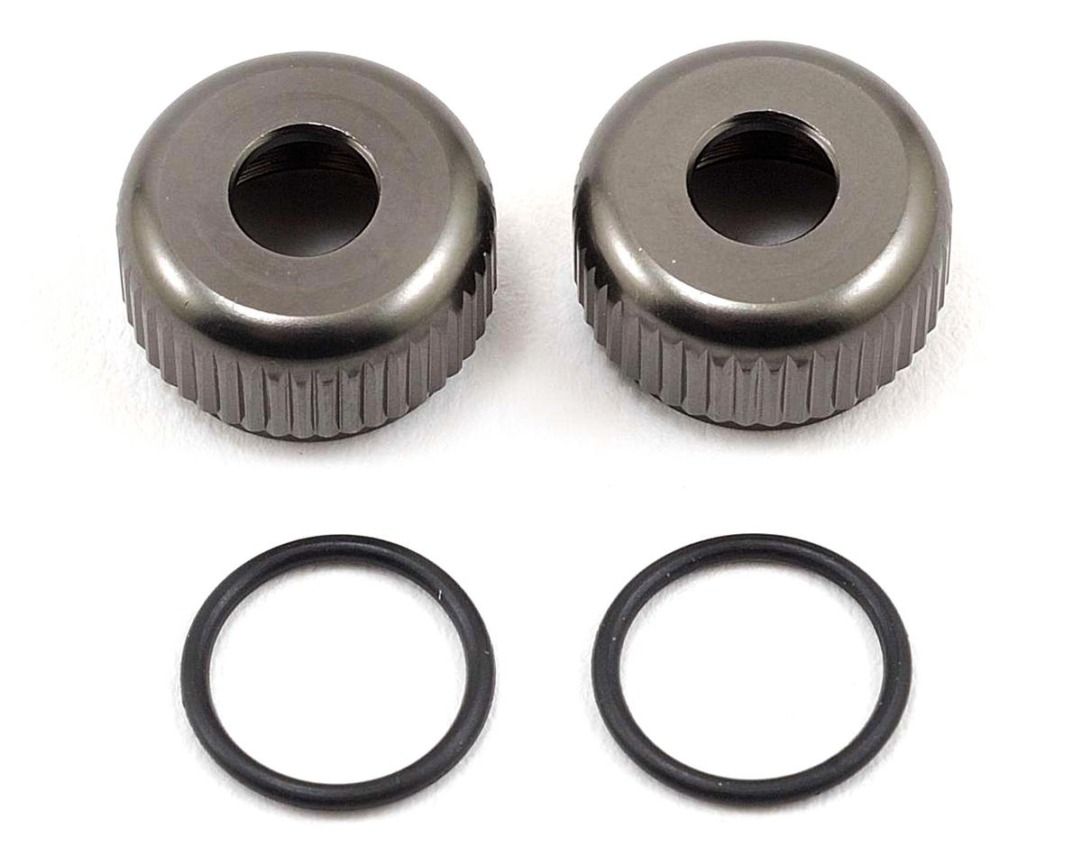 SWorkz BBS Bottom Shock Seal Cap (Gunmetal) (2) (S-Workz S350 BE1)