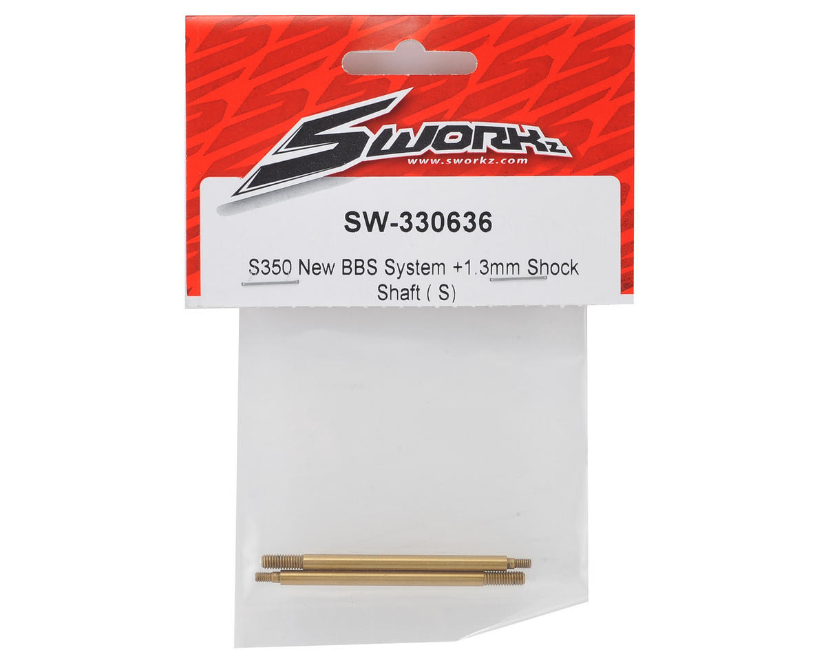 SWorkz S350 L-BBS +1.3mm Front Shock Shaft (S) (LE)