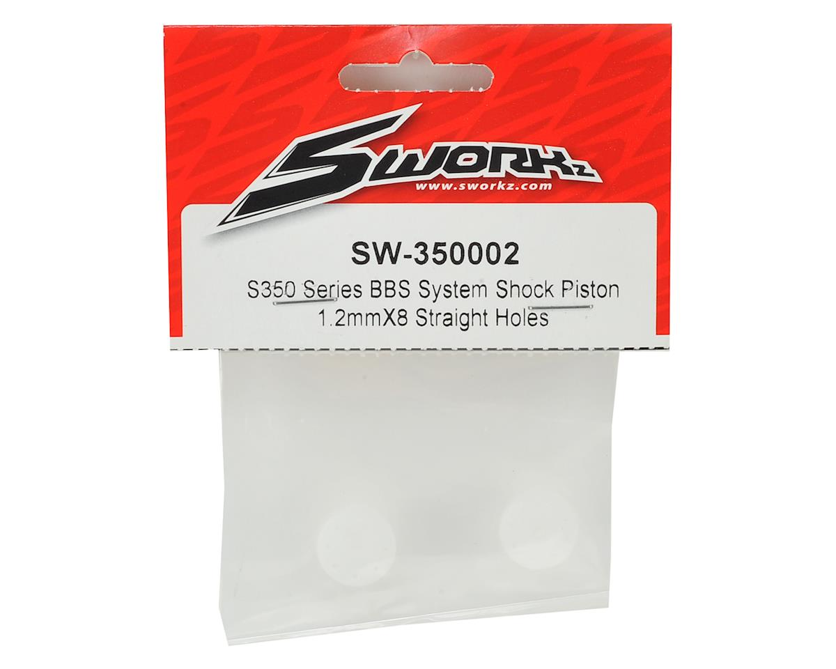 SWorkz S350 Series BBS System Shock Piston (2) (1.2mm X 8 Straight Holes)