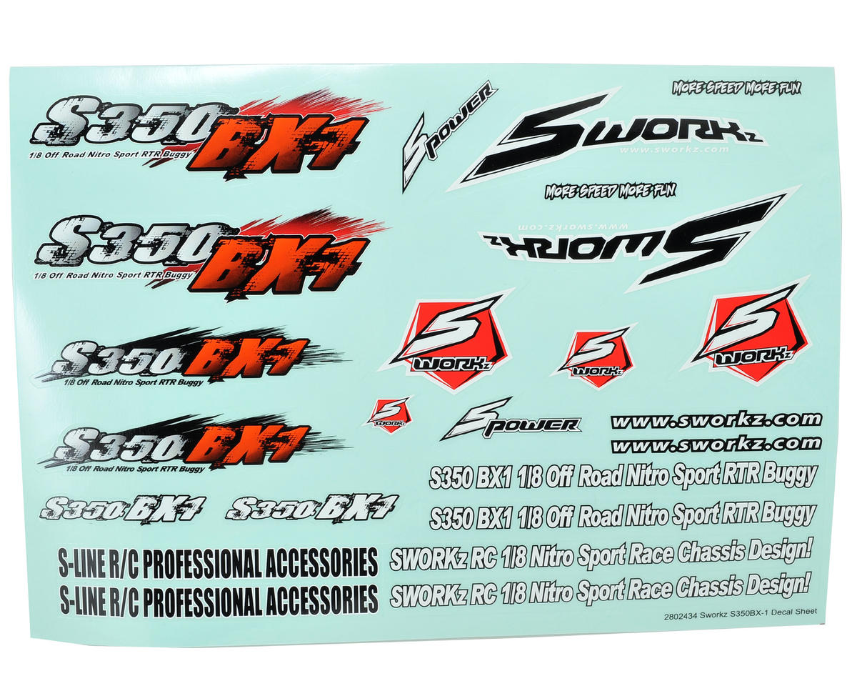 SWorkz S350 BX1 Decal Sheet