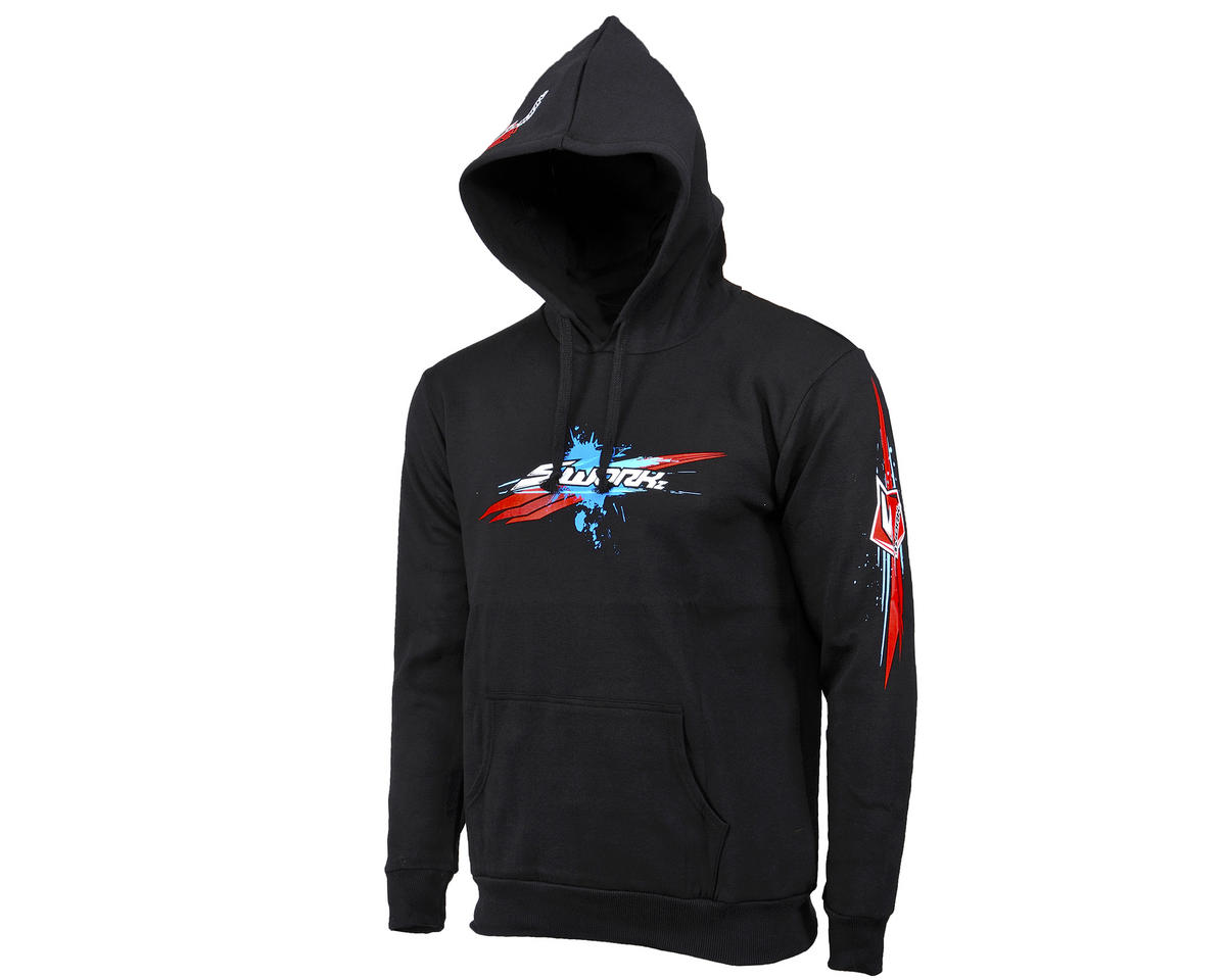 "SWorkz ""Speed"" Hooded Sweatshirt (Black) (M)"