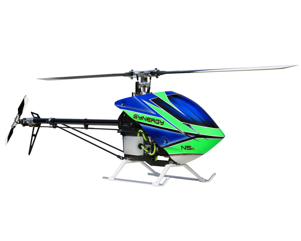 N5c TT Flybarless Torque Tube Nitro Helicopter Kit by Synergy