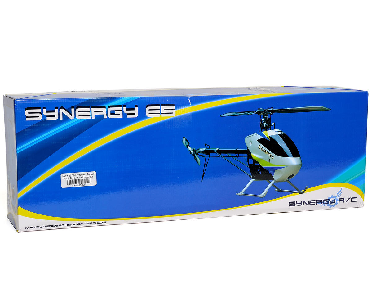 Synergy E5 Flybarless Torque Tube Electric Helicopter Kit