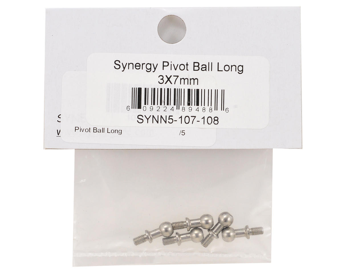 3x7mm Long Pivot Ball Set (5) by Synergy