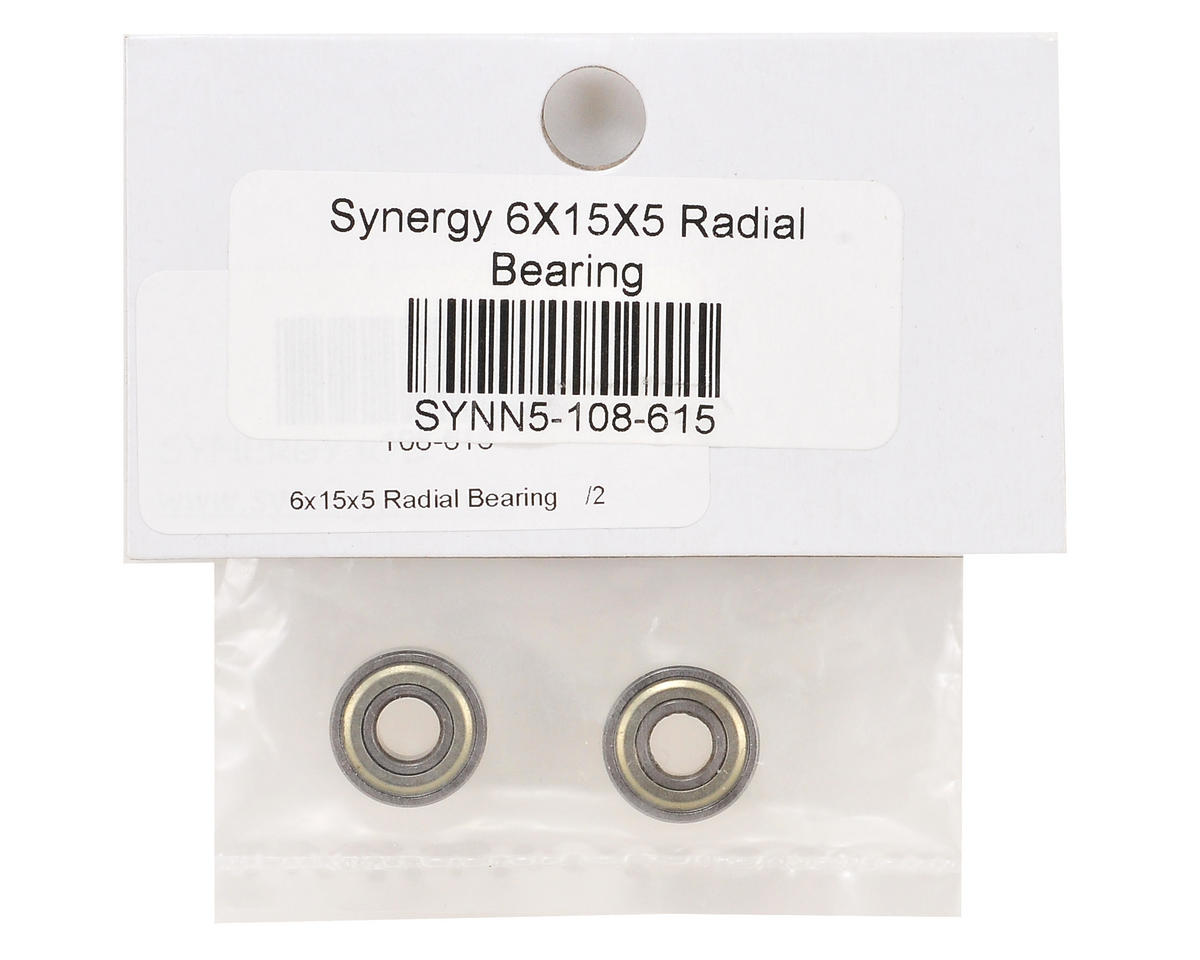 Synergy 6x15x5mm Radial Bearing Set (2)