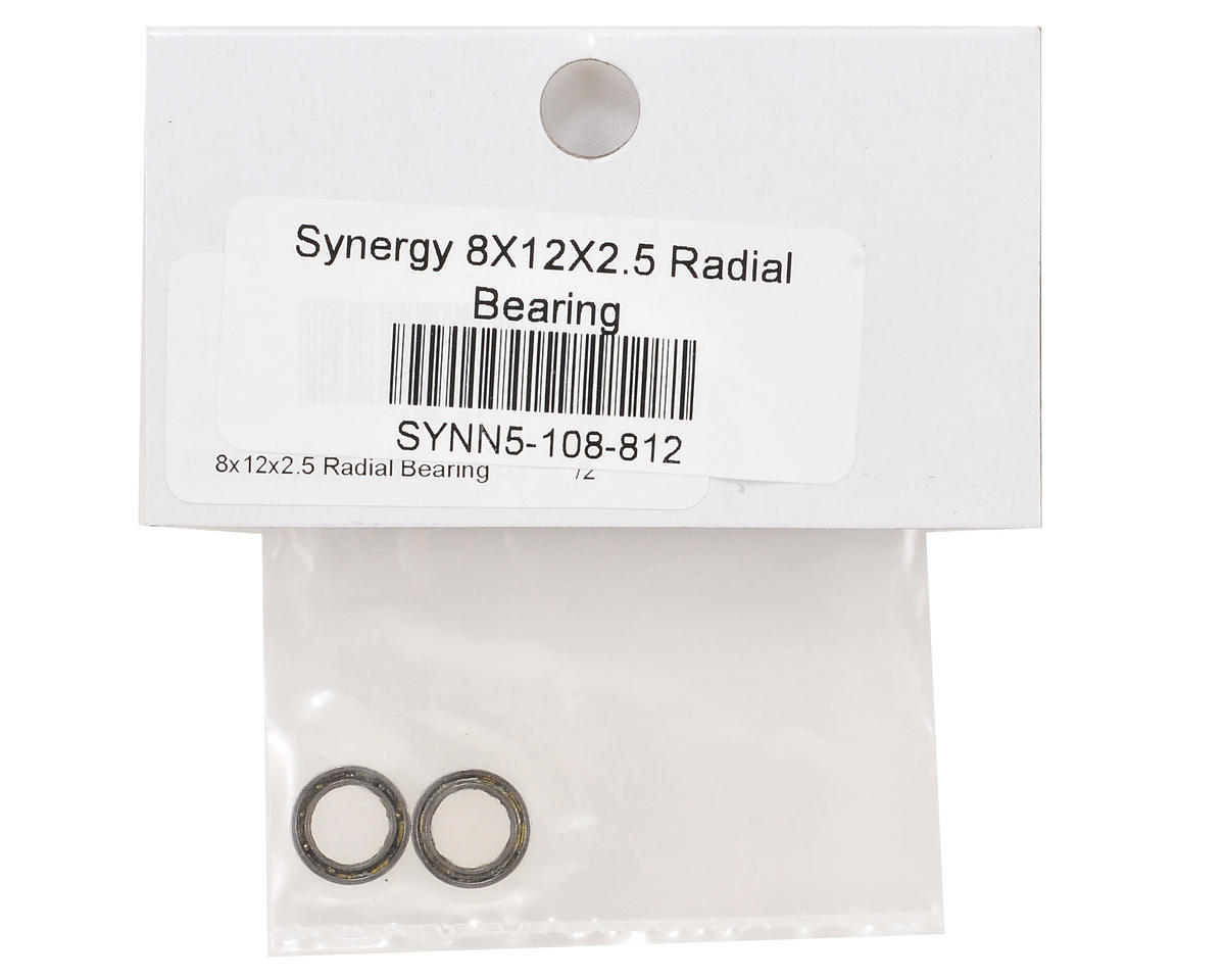 8x12x2.5mm Radial Bearing Set (2) by Synergy