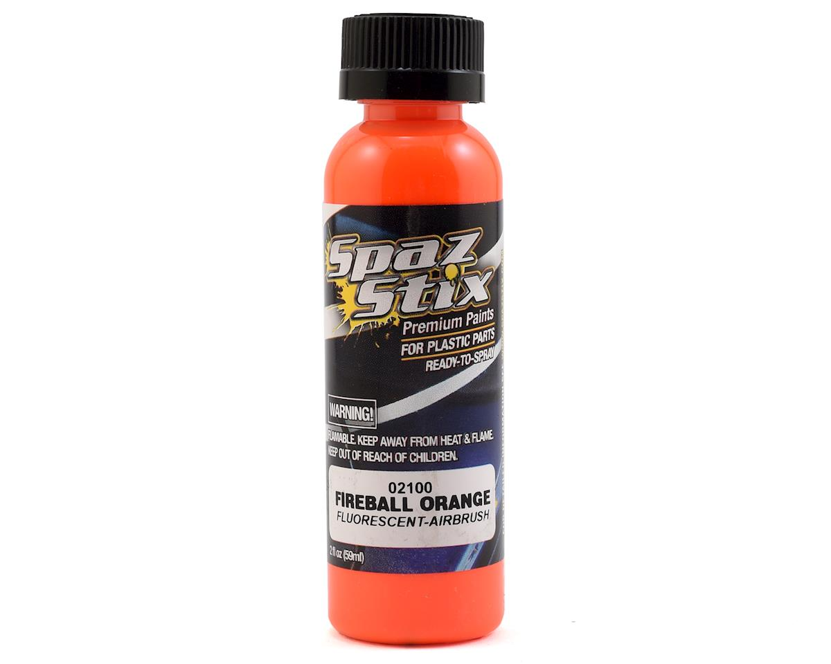 """Fireball Orange"" Fluorescent Airbrush Paint (2oz) by Spaz Stix"