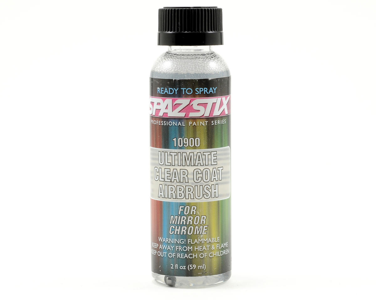 Ultimate Mirror Chrome Clear Coat Paint (2oz) by Spaz Stix