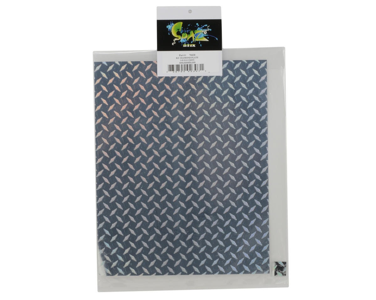 Spaz Stix R/C Diamond Plate Decal (3-D Illusion)