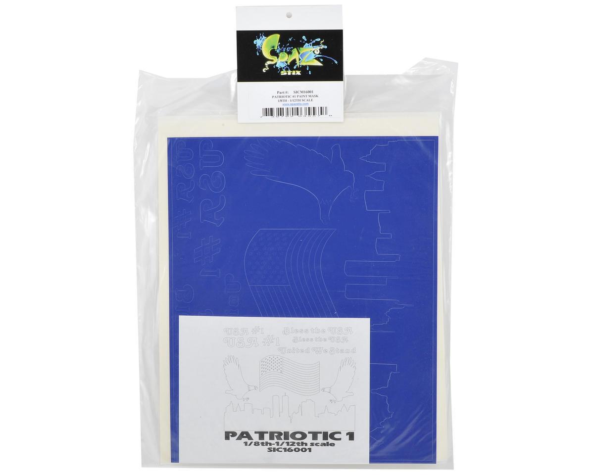 Spaz Stix Prime Paint Mask (Patriotic #1) (1/8th-1/12th Scale)