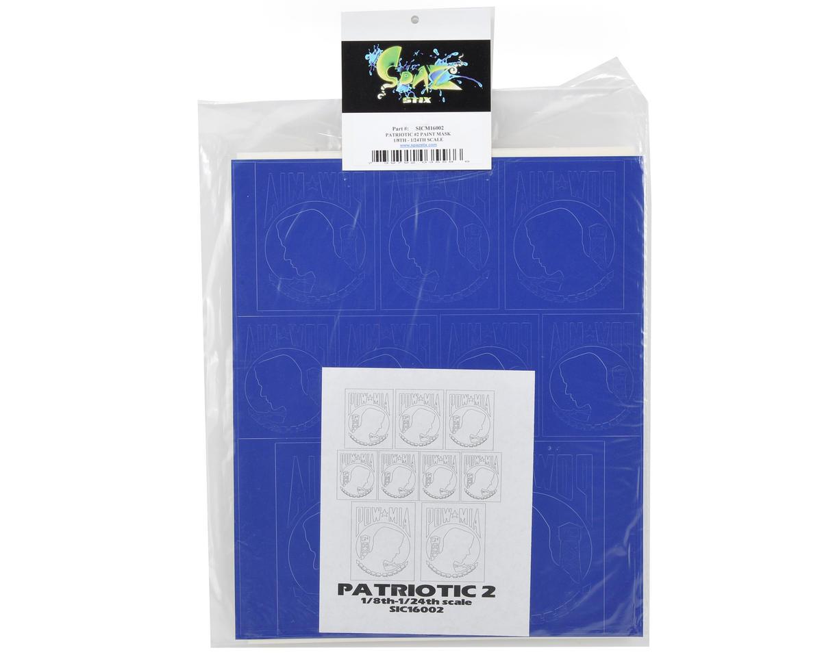 Spaz Stix Prime Paint Mask (Patriotic #2) (1/8th-1/24th Scale)