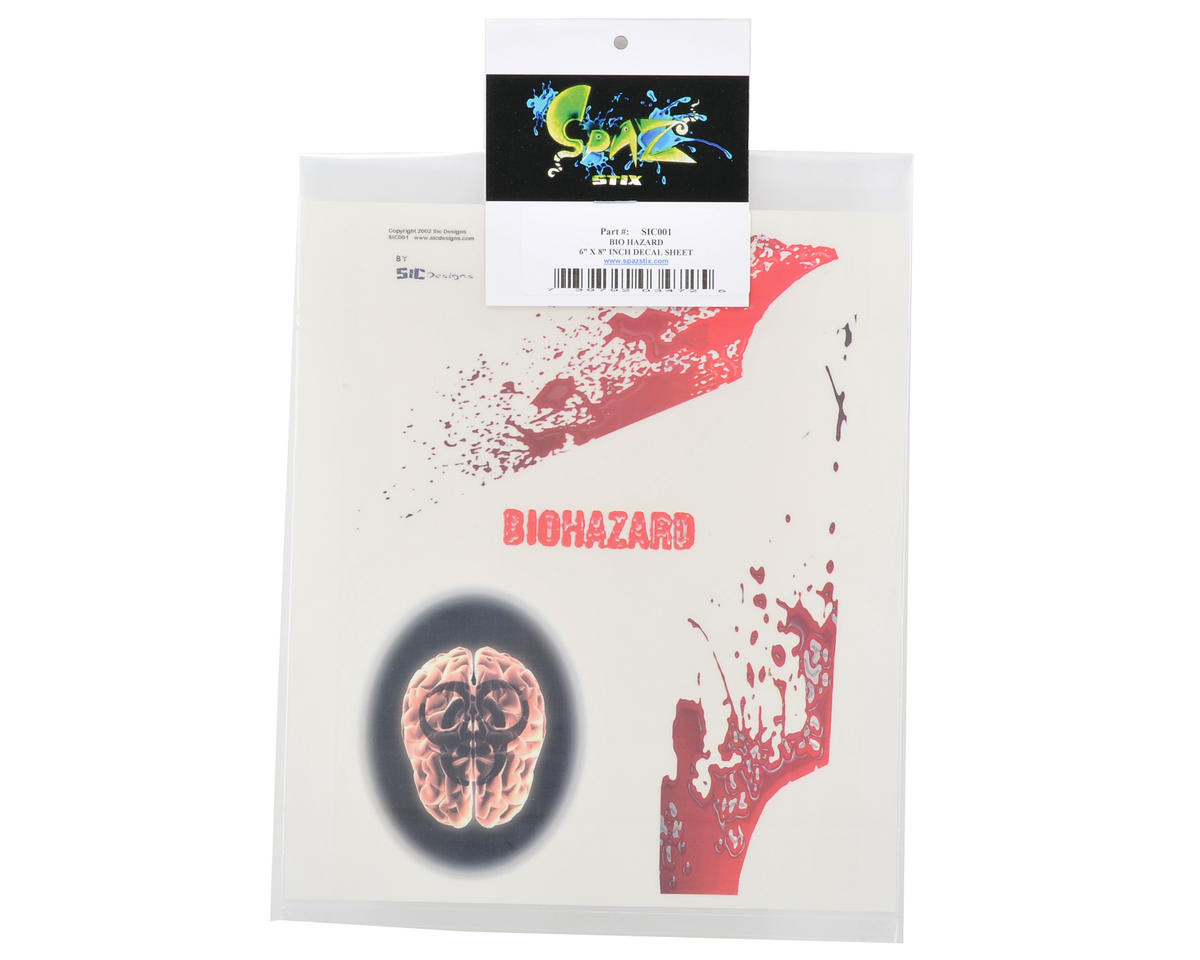 Spaz Stix Exterior Decal Sheet (Bio Hazard)
