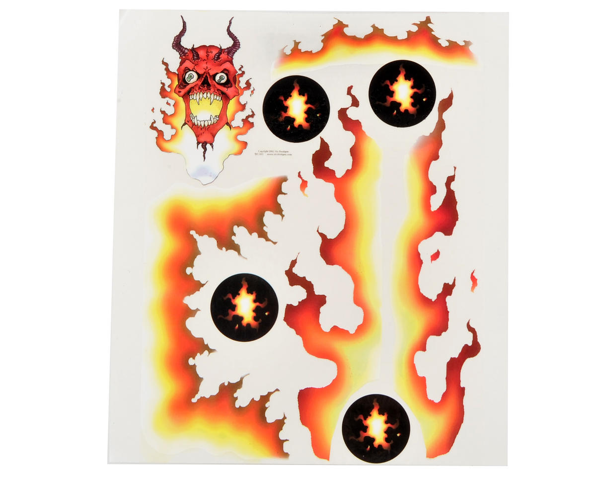 Spaz Stix Exterior Decal Sheet (Devil Fire)
