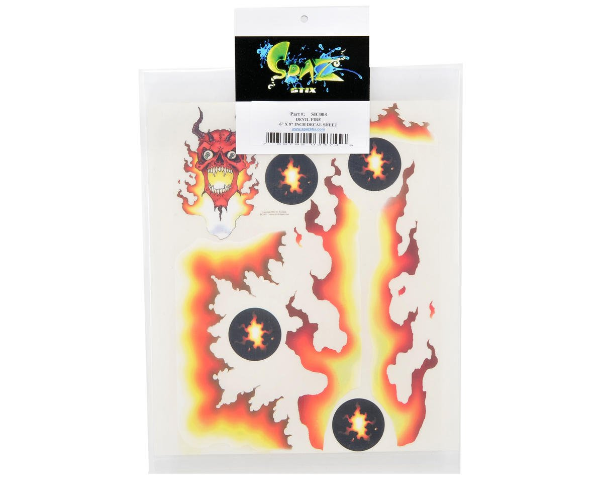 Spaz Stix Exterior Decal Sheet (Devil Fire)