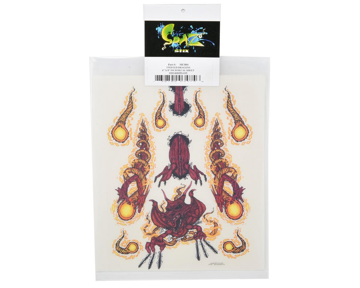 Spaz Stix Exterior Decal Sheet (Twisted Dragons)