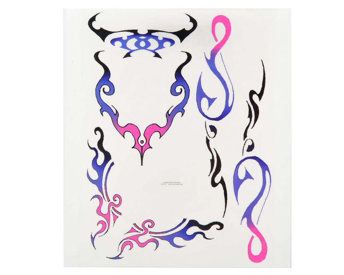 Spaz Stix Exterior Decal Sheet (Purple Tribal)