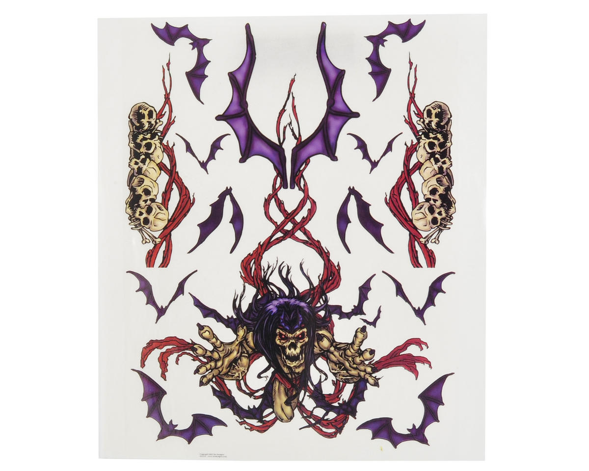 Spaz Stix Exterior Decal Sheet (Skeleton & Bats)
