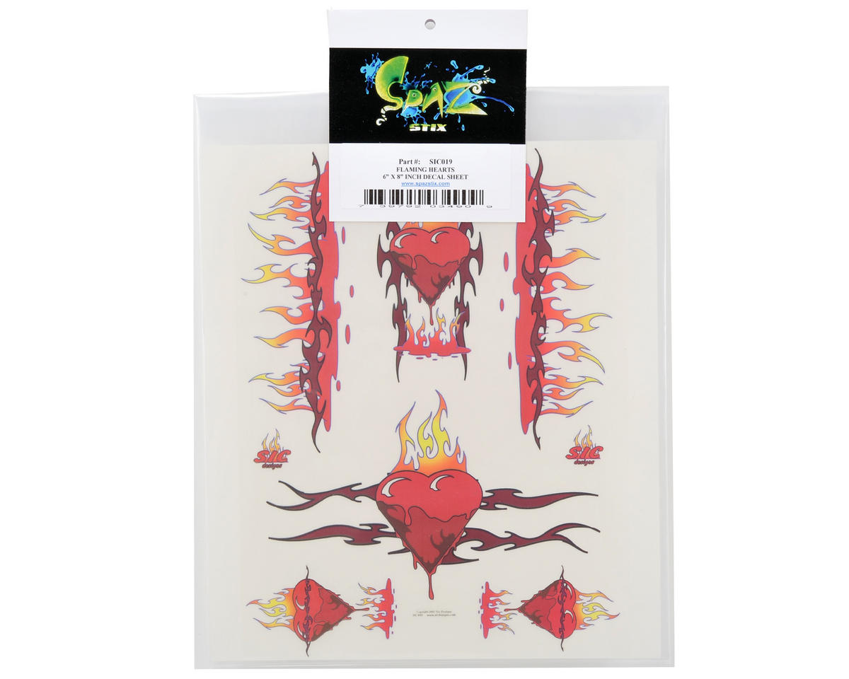 Spaz Stix Exterior Decal Sheet (Flaming Hearts)