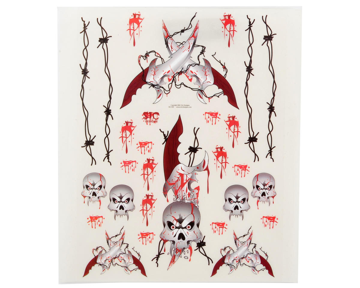 Spaz Stix Exterior Decal Sheet (Knifes & Skulls)