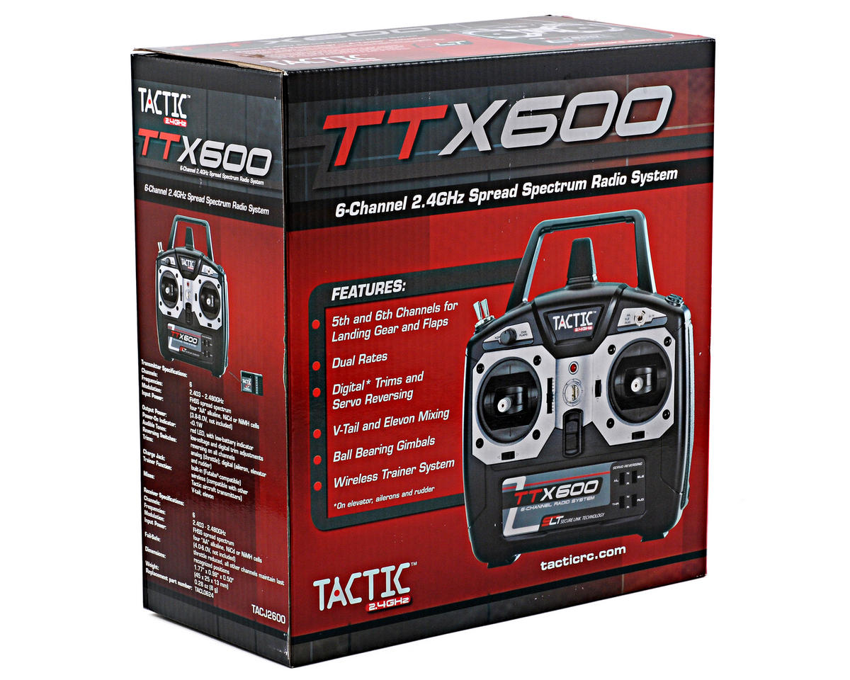 Tactic TTX600 2.4GHz 6-Channel Radios System w/6-Channel Receiver (No Servos)
