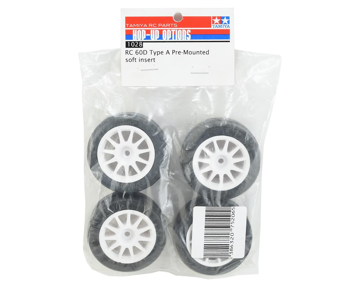Tamiya RC 60D Type A Pre-Mounted M-Chassis Tires w/Soft Foam Insert (4)