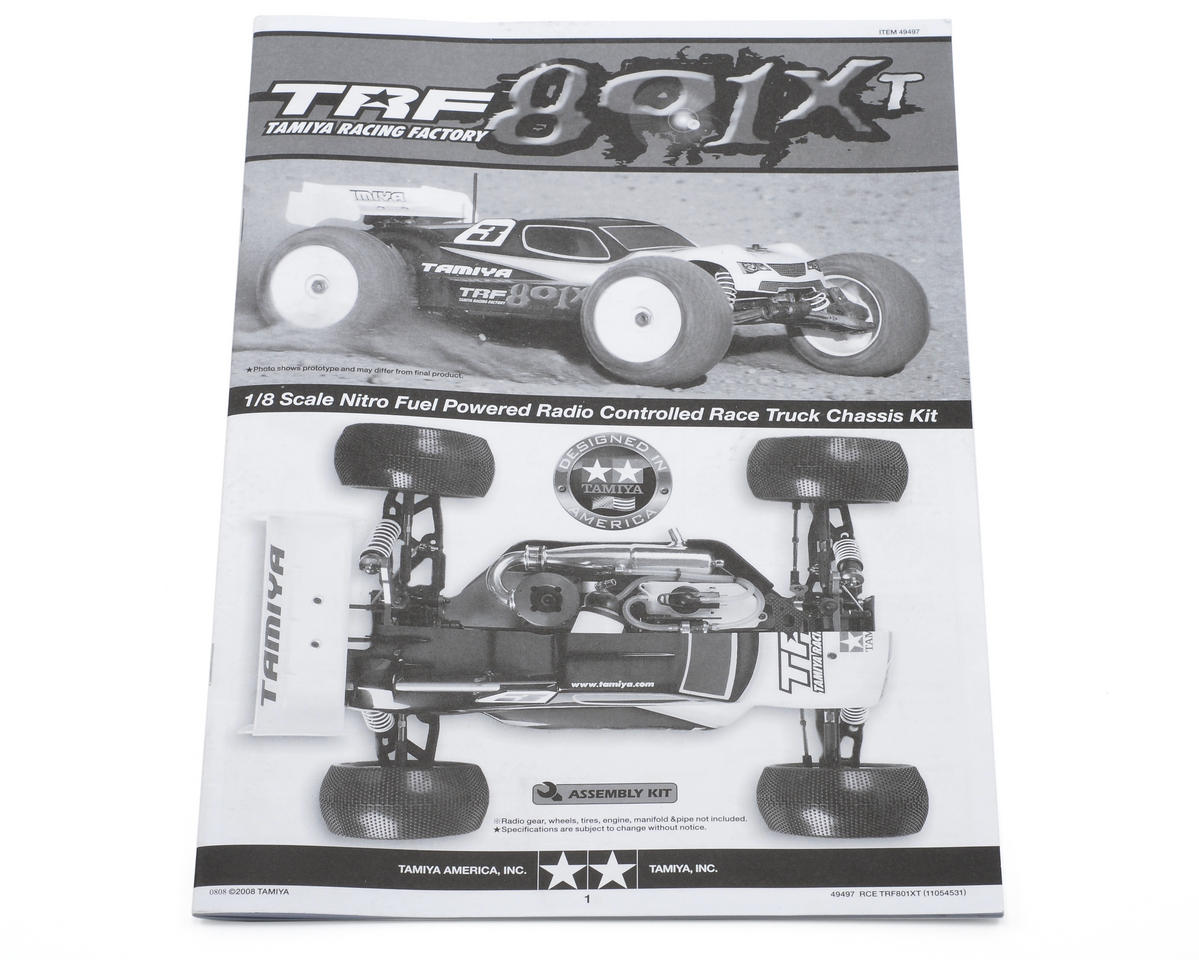 Tamiya TRF801Xt Instructions