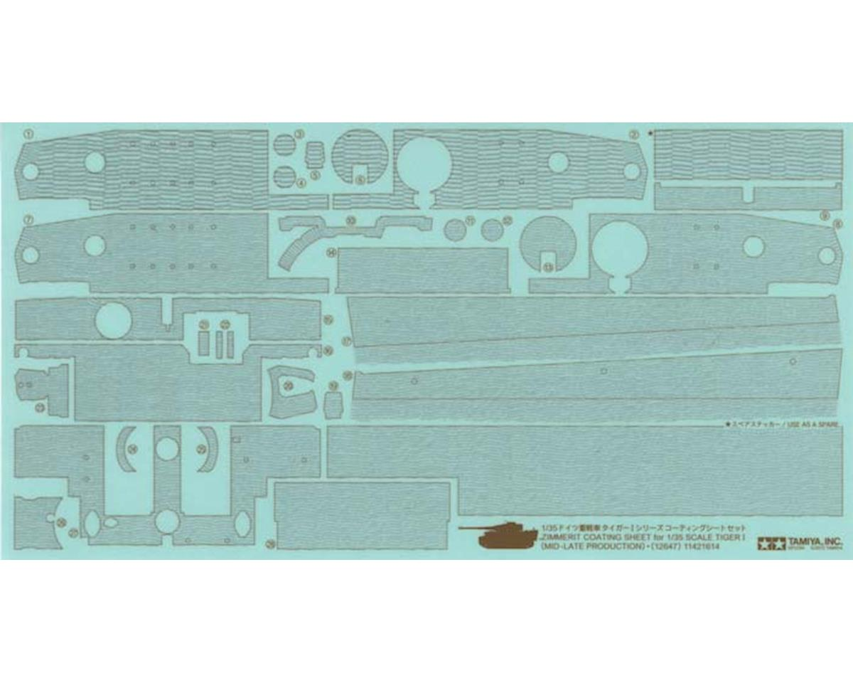 1/35 Zimmerit Coating Sheet Tiger I Mid late Prodn by Tamiya