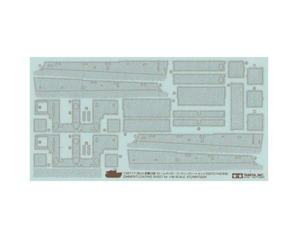 12672 1/48 Zimmerit Coating Sheet Sturmtiger by Tamiya