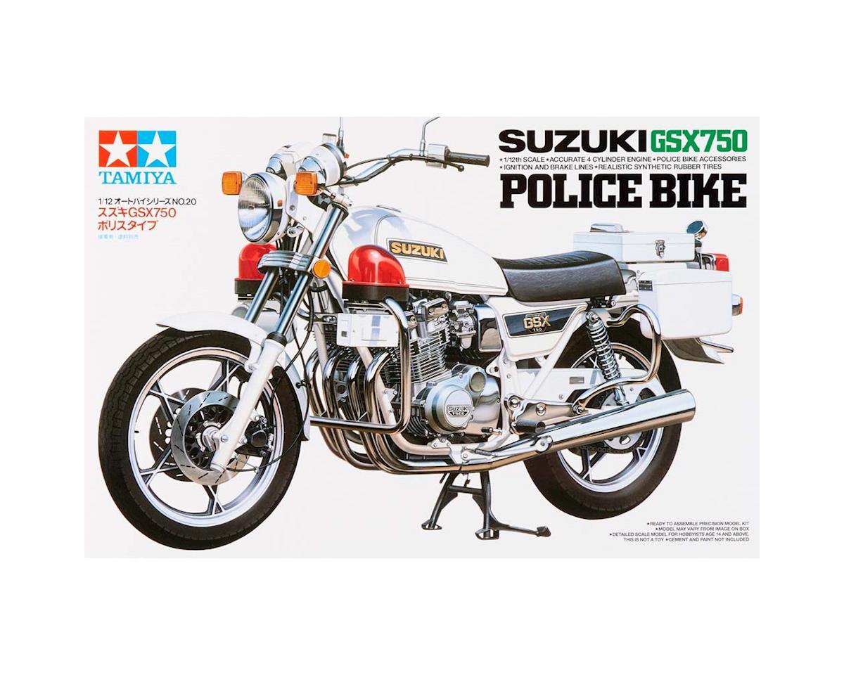 1/12 Suzuki GSX750S Police Bike Model by Tamiya
