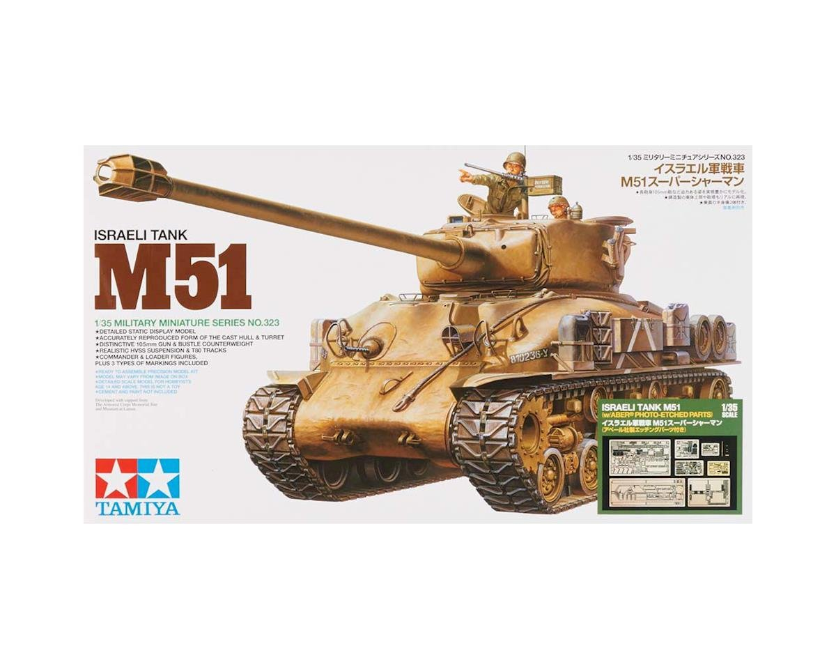1/35 Israeli Tank M51 w/Photo Etched Parts by Tamiya