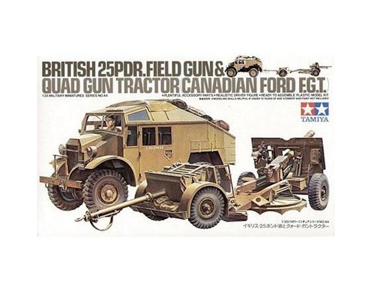 Tamiya 1/35 British 25lb Gun & Quad