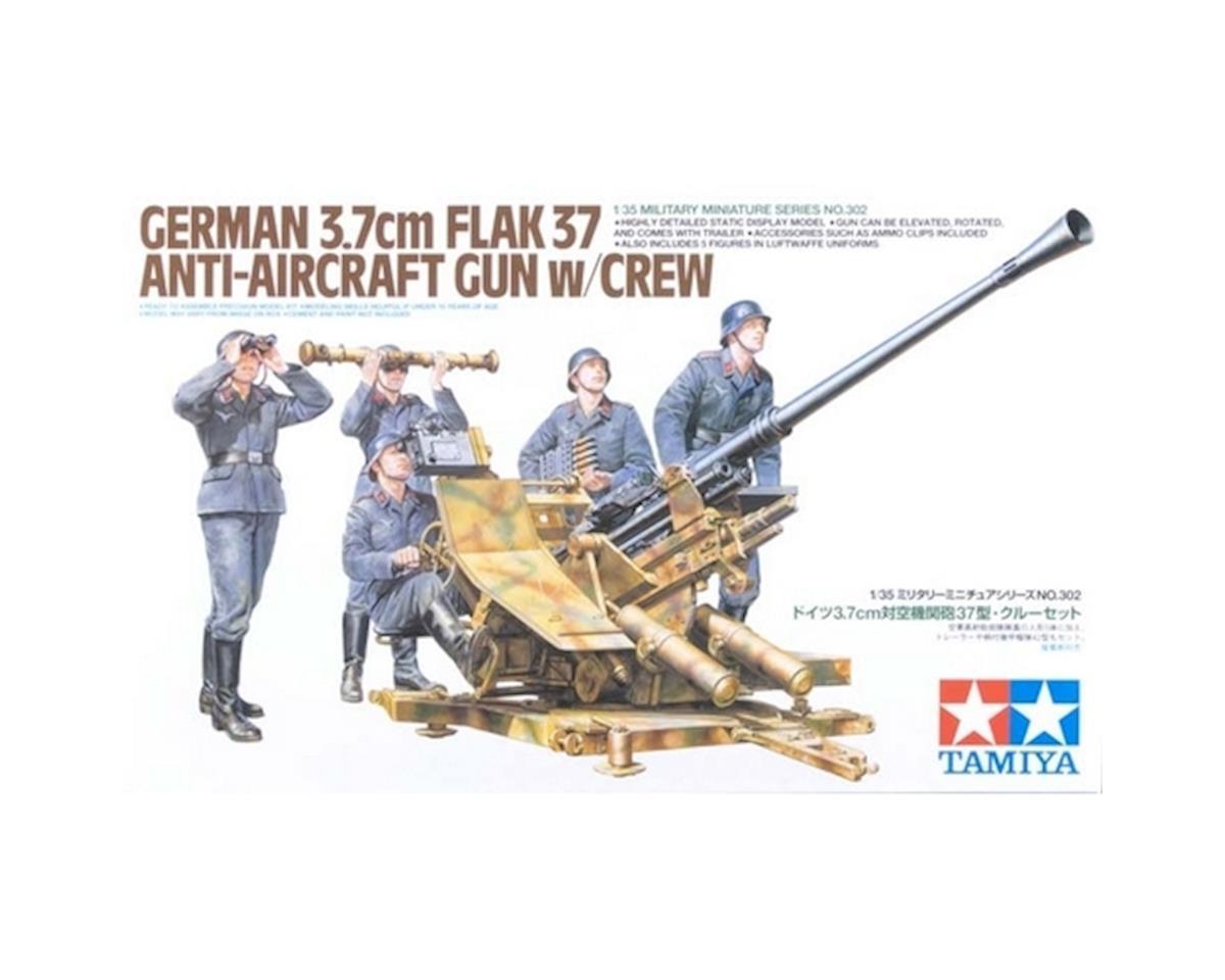 Tamiya 1/35 German 3.7 cm FLAK37 Gun/Crew